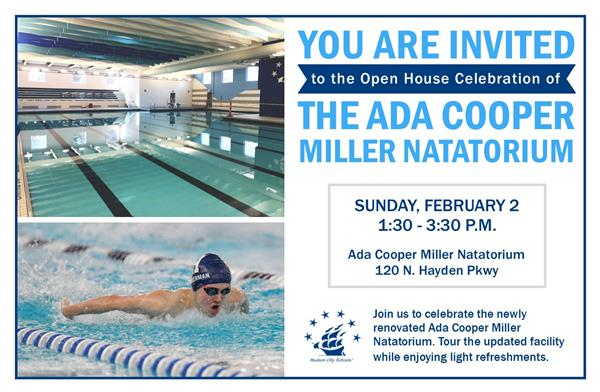 Invitation to The Ada Cooper Miller Natatorium Open House