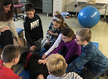 Therapy Dogs often make the rounds in our schools!