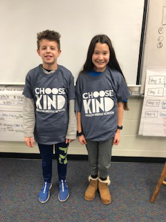 Students wearing Choose Kind Tees