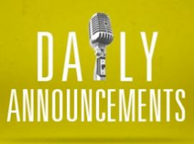 HMS Daily Announcements for Thursday, February 22, 2018