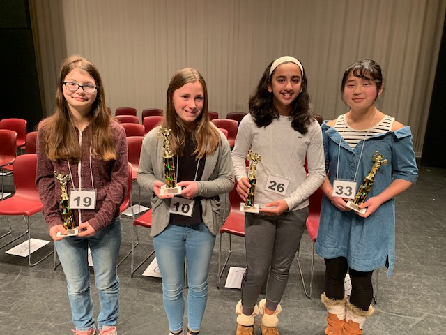 District Spelling Bee Finalists