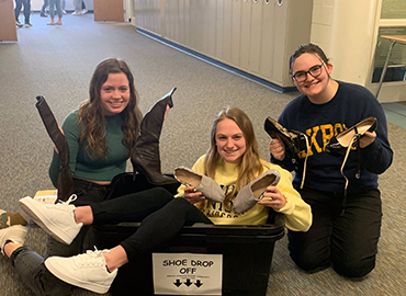 Service Learning Collects Shoes
