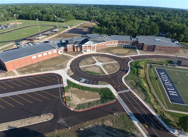 aerial photo of Hudson Middle School