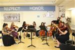 HMS students played music for the senior guests.