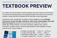 District to Hold Textbook Preview Sessions!