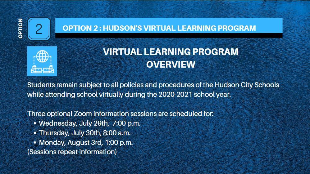 Cover Slide for Virtual Learning Sessions