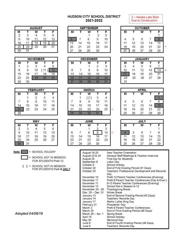 About HCSD / School Year Calendars