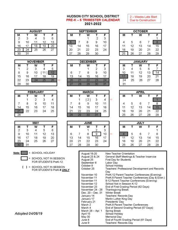 City Tech Calendar 2022.About Hcsd School Year Calendars