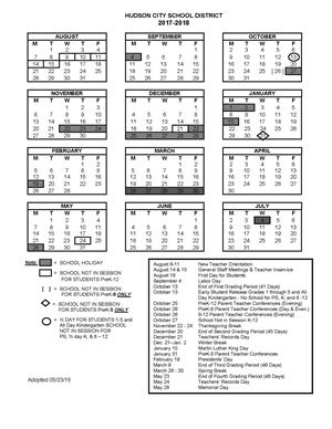 New York City School Calendar 2014 To 2020 2018 2019 School Year Calendar / 2018 2019 School Calendar