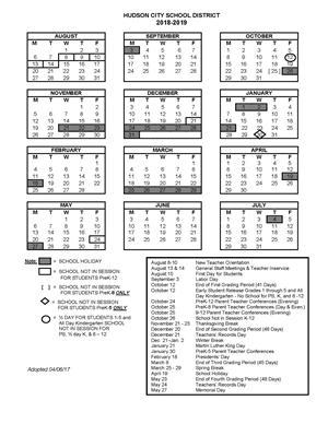 pdf of 2018 2019 calendar