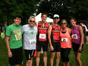 1st tri with family and friends and colleagues