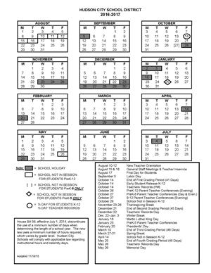 School Year Calendar / School Years